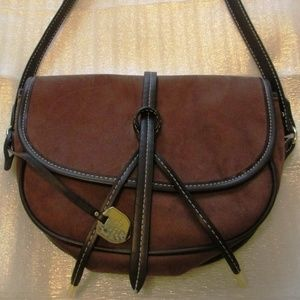 Rare Saddle - Like New Brown Suede Cross Body